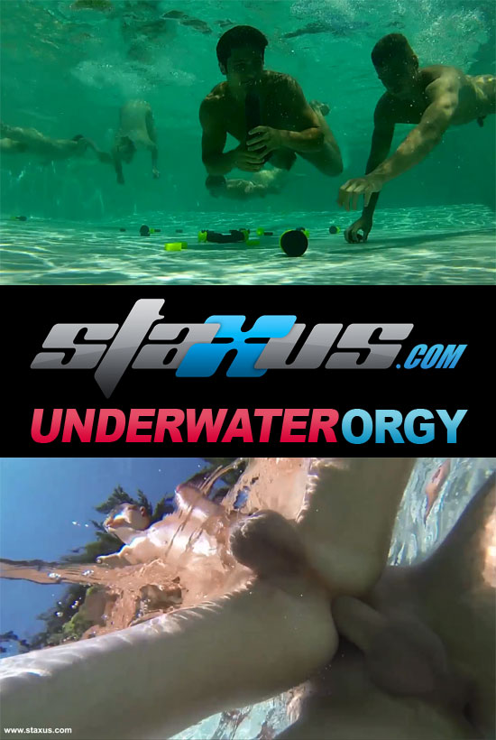 Underwater orgy at Staxus