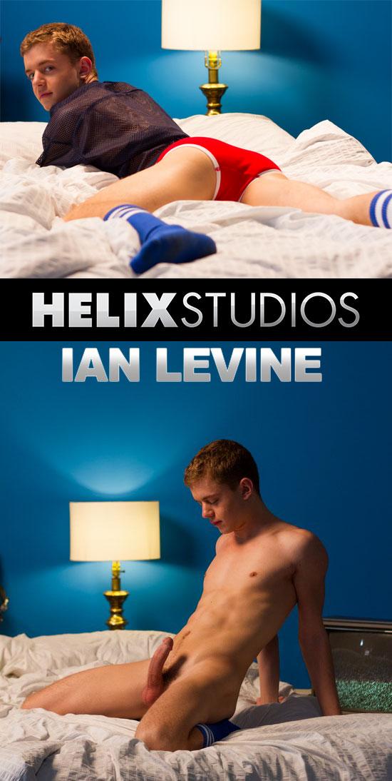 Twink boy Ian Levine jerks off