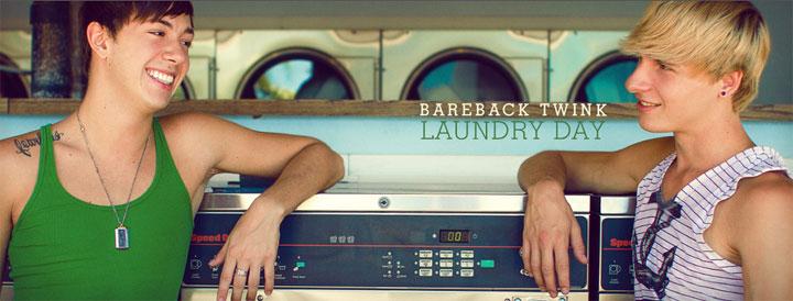 Bareback Twink Laundry Day